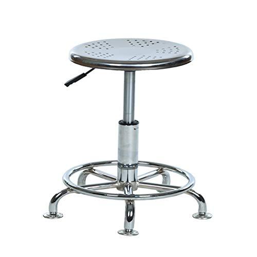Rostfreier Stahl Bohren Sitz, Rille Galvanisiert Fußnagel Experiment Arbeitsplätze Zimmer Schule Werkbank 45-55 cm 1/2 (Color : Stainless Steel)
