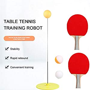 Akiimy Table Tennis Practice Set with Elastic Soft Shaft Leisure Decompression Sports 2 Table Tennis Paddle /& 3 Ping Pong Balls Table Tennis Rebound for Party