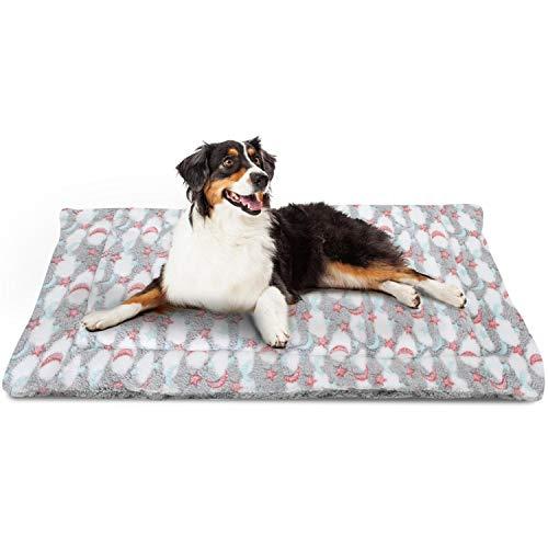 Nobleza Cama para Perros, colchoneta para Mascotas, Pata pequeña impresión paño Grueso y Suave Manta Suave Estera del Animal doméstico, Lavable (M,Gris)