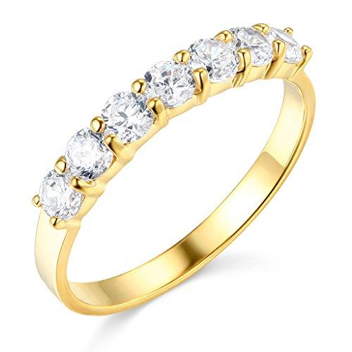 TWJC 14k Yellow Gold SOLID Wedding Band - Size 4