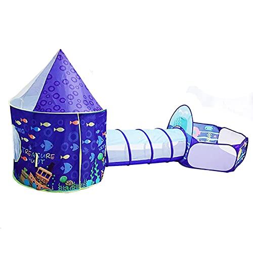 LINGLING Juguetes de exploración Tiendas de campaña para niños, Pop Up Tienda de Juegos Plegable con Casita Infantil, Tunel Infantil, Piscina de Bolas