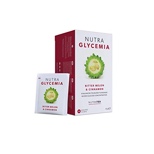 NutraGlycemia - Blutzuckertee   Diabetes-Tee – 40 Verpackte Teebeutel - von Nutra Tea – Kräutertee – (2 Packung)