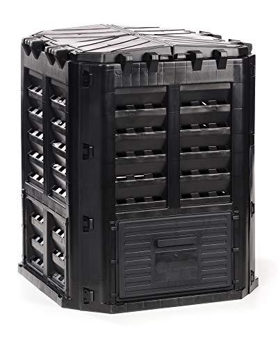 myGardenlust Komposter 320 Liter - Schnellkomposter aus Kunststoff - Thermokomposter als praktisches Stecksystem - Kompostierer stabil und hochwertig - Composter für Garten-Abfälle - 320L