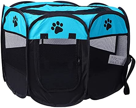 Dog Cage Max 48% OFF Pet Playpen Tent Foldable Award-winning store Puppy Exercise Room Crate