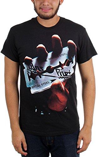 Judas Priest - - Hombres British Steel camiseta en Negro, Black, XX-Large