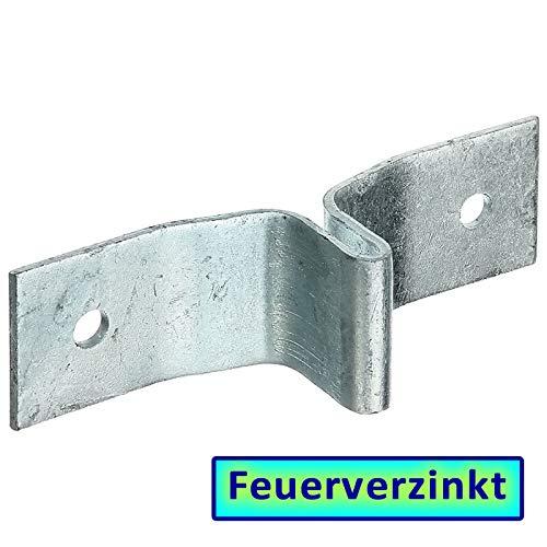 BAUER - FVZ Lasche 148x40mm für T-Zaunpfosten 40mm