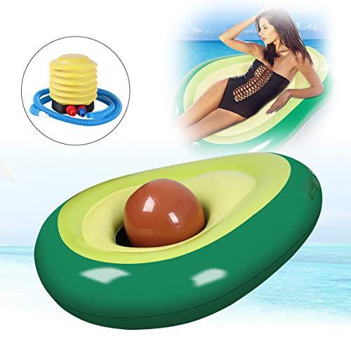 Qdreclod Piscina Gigante Gonfiabile Avocado Galleggiante Gonfiabile per Adulti Bambini Amaca Poltrona Gonfiabile della Piscina della Spiaggia 165CM X 130CM