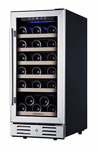 Kalamera Mini Fridge 15' Wine Cooler Refrigerator - 30 Bottle Wine Fridge with...