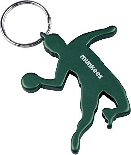 Munkees llavero handballer Jugadores, balonmano con abrebotellas, aluminio, verde