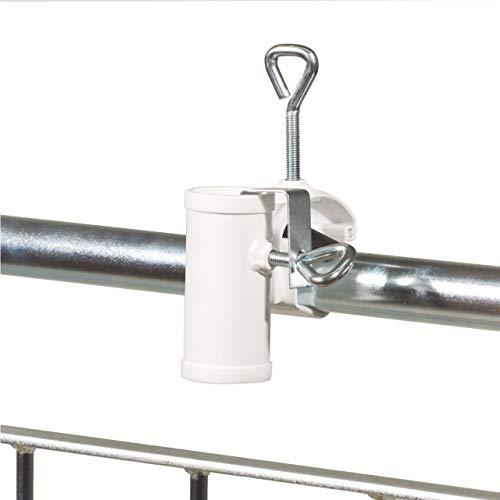 Videx Sonnenschirmhalter für Handlauf, flexibel, einfache Anwendung, robust 35mm