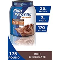 Pure Protein Rich Chocolate Whey Powder, 1.75 lbs