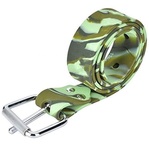 Tonglura Relajante Ajustable de Silicona de Buceo Profesional Cintura de la Pretina de la Correa de Soporte Peso con Quick Release Cinturón Equipo de Buceo Alegre (Color : Green)