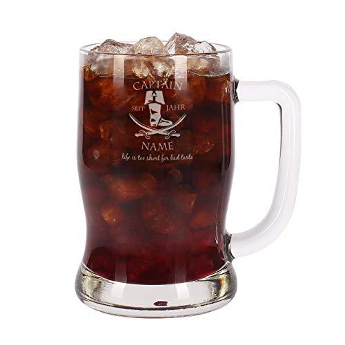 Leonardo Rum Glas Krug - Captain - mit Gratis Gravur des Namens u. Geburtsjahr 0,5l