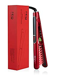 top 10 infrared iron hair HTG Professional Flat Iron with 1 inch Infrared and Ionic Curling Iron Ceramic Tourmaline…