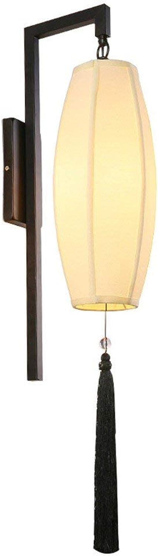 BAIJJ Led Lampe Zimmer Schlafzimmer Küche Wohnzimmer Korridor Gang Wand Stoff Retro Nachttischlampe Blütenblatt Tee