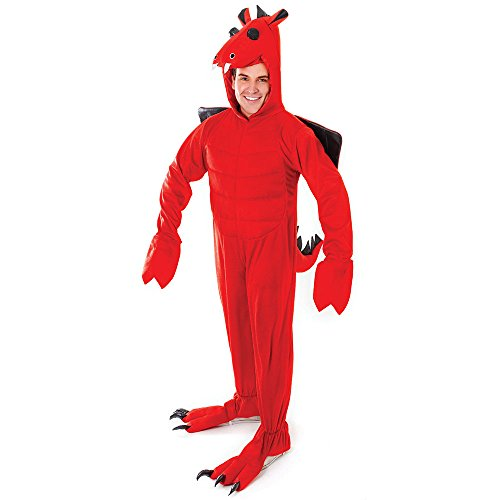 Bristol Novelty Ac363 Costume de dragon Rouge, Medium