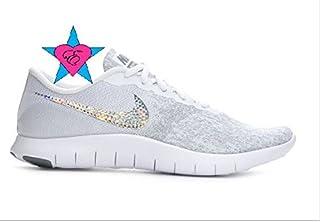da1bec6b909b81 Custom Glitter Rhinestone Women Gray Nike Flex Contact