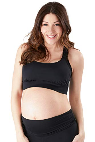 Belly Bandit - Active Support Nursing Sports Bra - Large Black