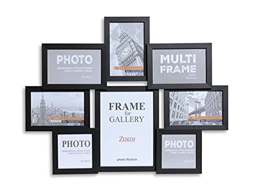 Victor Bilderrahmen Collage in schwarz aus Holz mit 8 Bildern (5 x 10x15cm; 2 x 10x10cm; 1 x 15x21cm)