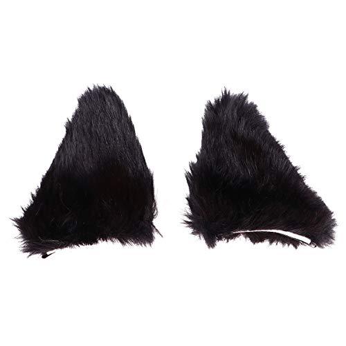 2 piezas pinza de pelo de Halloween con forma de oreja de gato pinza de pelo disfraz de Cosplay para nias