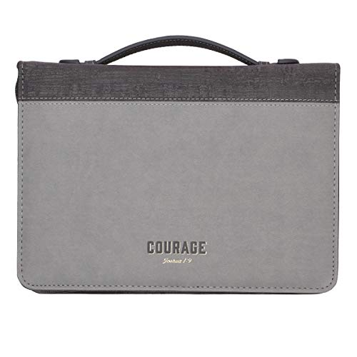 Courage LuxLeather Bible Cover – Joshua 1:9 - Large