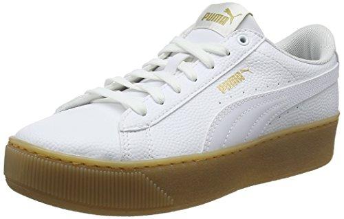 Puma Vikky Platform VT, Scarpe da Ginnastica Basse Donna, Bianco White 01, 38 EU