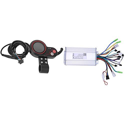 Keenso Controlador Scooter eléctrico 2 en 1, Scooter eléctrico Bicicleta de montaña eléctrica LH100 36V 500W Controlador 2 en 1 con LCD Desplazador de Pulgar Accesor