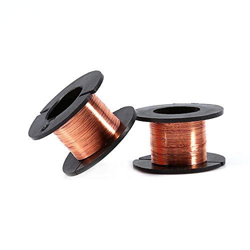 5 unids 0.1mm Alambre de Imán Esmaltado Alambre de Soldadura de Cobre Alambre Esmaltado cobre esmaltado Reparación Longitud del Cable 15m