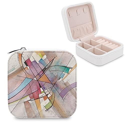 CANTATA en PASTEL MAJOR Caja de joyería pequeña caja de joyería para almacenamiento de joyas, pendientes, collar organizador de piel sintética para mujeres y niñas