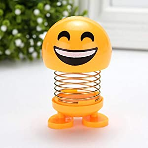 ZENGJIABIN Interesting Toy Animation Mood Shaking Toy Car Decoration Smile Face Auto Accessories