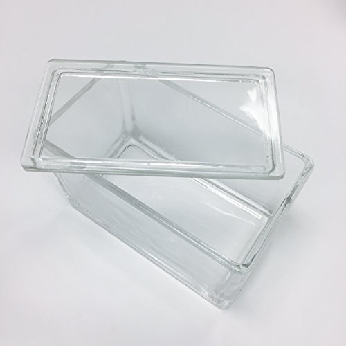 Staining dish for 60 microscope slides with lid (match a common 60-slide rack for vertically dipping/staining, which is not included in this item)