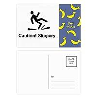 注意のつるつるしたブラック・シンボル バナナのポストカードセットサンクスカード郵送側20個