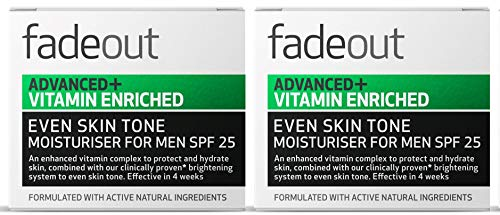 Fade Out Advanced+ Vitamin Enriched Moisturizer for Men SPF 25 - Clinically Proven Face Cream to...