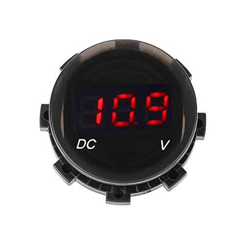 Yagosodee Voltímetro LED con pantalla digital de voltaje y calibre de panel para coche, moto, SUV, ATV, barco, modificado (rojo)