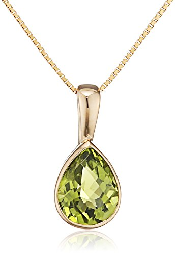 Elements Gold - 9 k (375) Gelbgold Tropfenschliff grün Péridot
