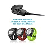 SM SunniMix 2in 1 USB Port Charge & Data Sync Cable for Garmin Forerunner 230 235 630 PM