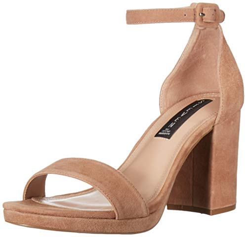 Price comparison product image STEVEN by Steve Madden Women's VINO Heeled Sandal,  Nude Suede,  7.5 M US