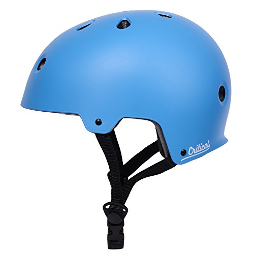 Critical Cycles CM-2 Bicycle / Skateboard Helmet for Adult CPSC Certified Commuter, Bike, Skate, Small: 51-55 cm / 20'-21.75', Matte Sky Blue