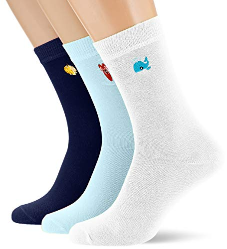 Urban Classics Socken Fun Embroidery Socks 3-Pack Calcetines