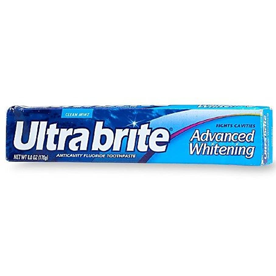 第宿泊苦行海外直送品Colgate Colgate Ultra Brite Advanced Whitening Fluoride Toothpaste, 6 oz (Pack of 3)