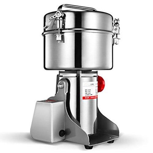 CGOLDENWALL LED-Anzeige Elektrische Getreidemühle Hochgeschwindigkeits-Gewürzkräutermühle Gewerbliche Pulvermaschine Pulvermaschine Trockengetreide Getreide Kräutermühle (2500g Swing Type)