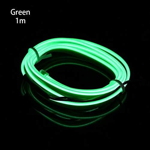 Cadena de luz Car Styling costura Borde EL cable de Flash tubo de la cuerda del cable flexible de la tira de neón del resplandor de la decoración del coche de la lámpara Para Automotriz Decorativa