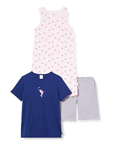 Schiesser Mädchen Girls World Md Nachtwäsche Set Zweiteiliger Schlafanzug, Mehrfarbig (Sortiert 1 901), (Herstellergröße: 140) (2er Pack)
