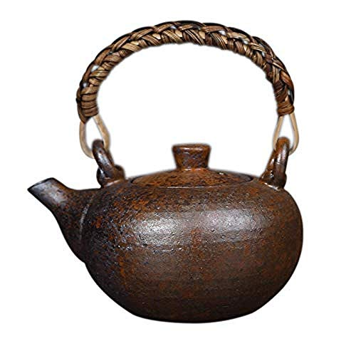 Tetera, tetera de hierro fundido, tetera, set de té de cerámica, porcelana y piedra cerámica ese hecho a mano, set de té Zen Kungfu, té, té, cerámica, maceta individual para decoración del hogar