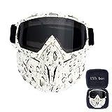 FMC Motocross Goggles, Motorrad-Sonnenbrille Staubbrille Removable Goggles Winddichtes, Gesichtsmaske für Outdoor Off-Road Motocross Bike,V