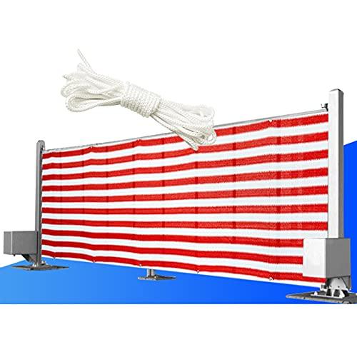 YUDEYU Red de Sombra Valla Proteccion Solar Planta Ingenieria Patio balcón Pantalla de privacidad con Cuerda Los Rayos UV Protege Velas de Sombra (Color : Red and White Strips, Size : 0.9x5m)