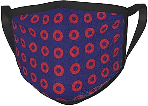 Cubierta para la cara Pesadilla antes de Navidad Bandana cuello Polaina Sombreros Pasamontañas Protección solar al aire libre Bufanda-Phish Red Donut Circles on BlueAdult Black Border Masks-One Size