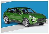 カーモデルダ 1:24ターボアロイカーモデルダイカスト&おもちゃの車のためのマカンのためのギフト輸送玩具キャスティングカーモデル ダイキャストカー (Color : 緑)