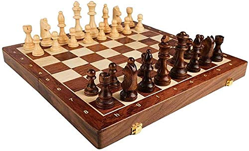 GXY Schach-Set-Spiele Reisebranchen Massivholz-Schach-Set, Tragbares Klappbrett, Schachspiel, Geschenke Und Brettspiele Für Erwachsene Und Kinderentwicklung,45 * 45.