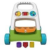 Fisher-Price Mon Trotteur Basique, jouet à pousser pour apprendre à bébé à marcher, activités d'éveil, 6 mois et plus, FYK65